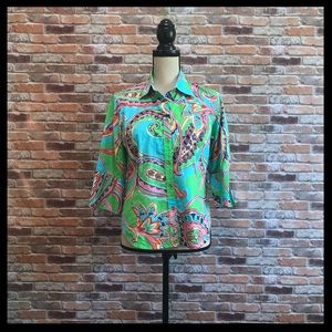 Lilly Pulitzer Patterned Button Down Shirt
